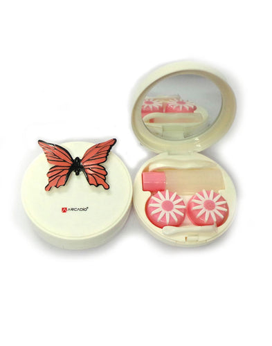 BUTTERFLY EFFECT - Designer Contact Lens Cases - A8063A-PK - ARCADIO LIFESTYLE