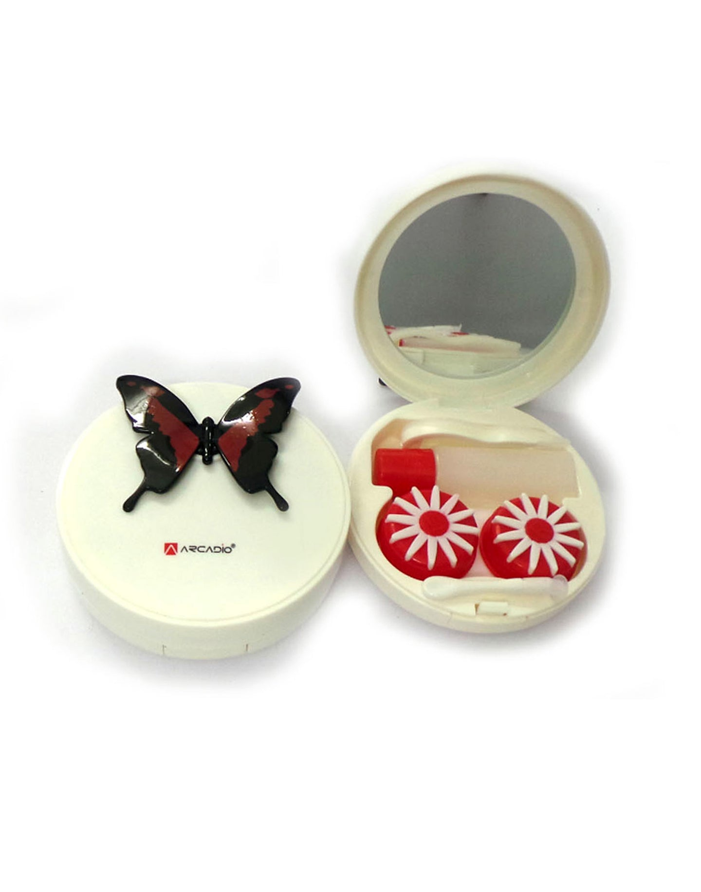 BUTTERFLY EFFECT - Designer Contact Lens Cases - A8063A-RD - ARCADIO LIFESTYLE