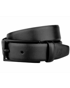 TIMELESS TEXTURE - Textured Leather Belt - ARB1003BK