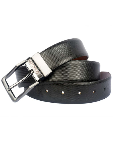 SERPENTINE - Serpent Pattern Leather Belt - ARB1005RV - ARCADIO LIFESTYLE
