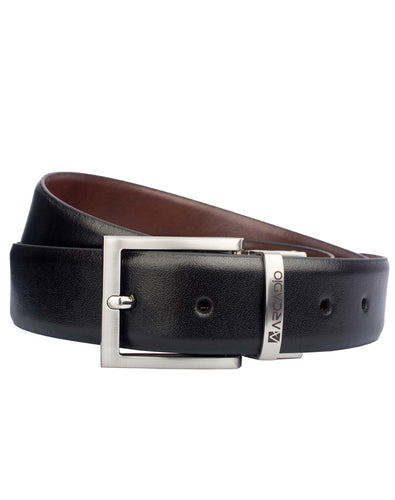 BRUSH HOUR - Brushed Leather Belt - ARB1007RV - ARCADIO LIFESTYLE