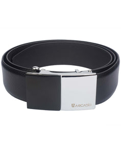 SIZZLING BEZZLE - Bezzle Cut Buckle Leather Belt - ARB1009BK