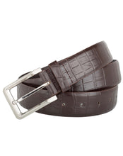 CLASSIC CROC - Croc Pattern Leather Belt - ARB1012BR - ARCADIO LIFESTYLE