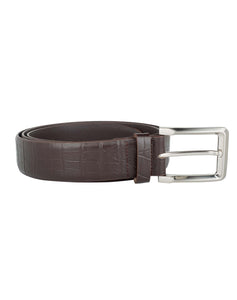 CLASSIC CROC - Croc Pattern Leather Belt - ARB1012BR