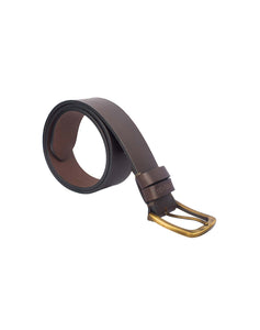 VINTAGE MANIA - Antique Look Leather Belt - ARB1016BR