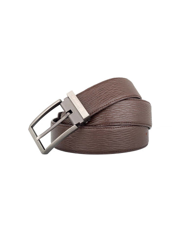 ARB1028 Grained Leather Belt - ARCADIO LIFESTYLE