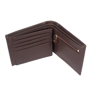 DIAMOND DESIRE Bifold Diamond Stitch Leather Wallet - ARW1001BR