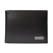 BLACK MAGIC Bifold Plain Black Leather Wallet - ARW1002BK - ARCADIO LIFESTYLE