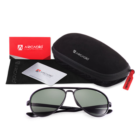 Unisex Polarized Sunglass - AR226,BK-G15P,package