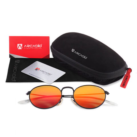 Round Metal Polarized Sunglass AR219-package