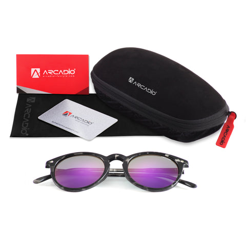 Hi-Fashion Round Polarized Sunglass- AR225package
