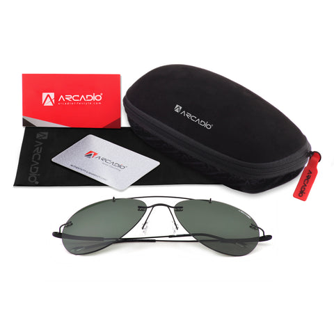 Rimless Ultra Light Polarized Sunglass - AR218G15p - package