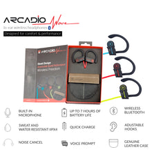 ARCADIO WAVE - Wireless Ear Plug with Mic - Red - ARCADIO LIFESTYLE