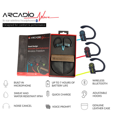 ARCADIO WAVE - Wireless Ear Plug with Mic - Blue - ARCADIO LIFESTYLE