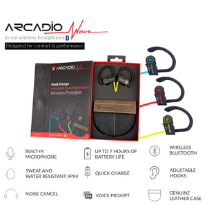 ARCADIO WAVE - Wireless Ear Plug with Mic - Sports Green