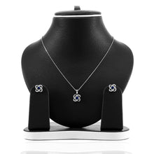 Four Leaf Clover Sapphire Pendant and Earrings Set - ARJW1005RD - ARCADIO LIFESTYLE