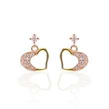 Heart Swirls Pendant and Earrings Set - ARJW1006GD-RG - ARCADIO LIFESTYLE