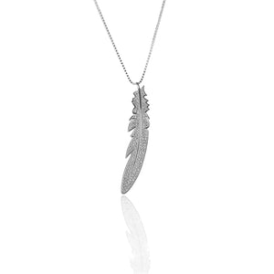 Feather Pendant Necklace and Earring Set - ARJW1015RD