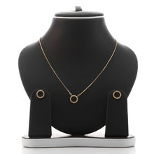 Circle of life Pendant Necklace and Earrings Set - ARJW1021GD
