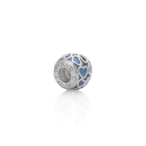 Blue Encased in Love Verona Charm - Sterling Sliver, Cubic Zirconia Gemstones - ARJWVC1054RD