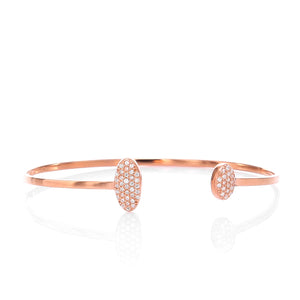Open Double Cuff Bangle Bracelet - ARJWDB1060RG