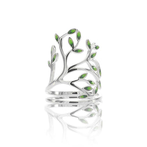 Tree of Life Open Adjustable Ring - ARJWR1038RD