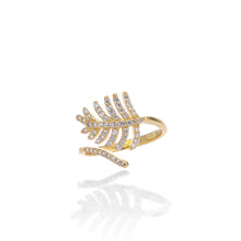 Light As a Feather Adjustable Ring - ARJWR1041GD - ARCADIO LIFESTYLE