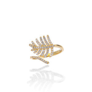 Light As a Feather Adjustable Ring - ARJWR1041GD