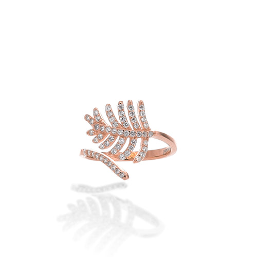 Light As a Feather Adjustable Ring - ARJWR1041RG - ARCADIO LIFESTYLE