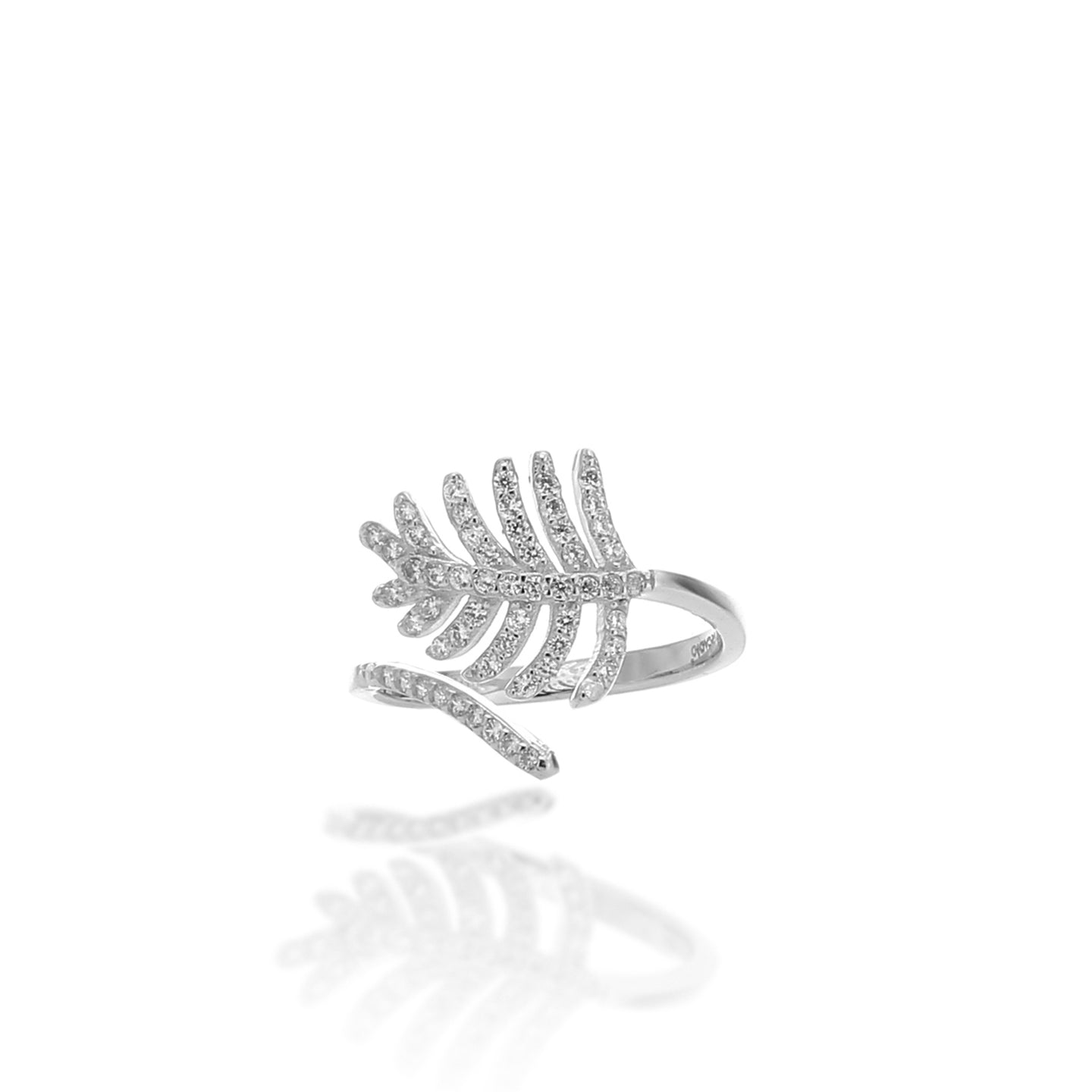 Light As a Feather Adjustable Ring - ARJWR1041RD - ARCADIO LIFESTYLE