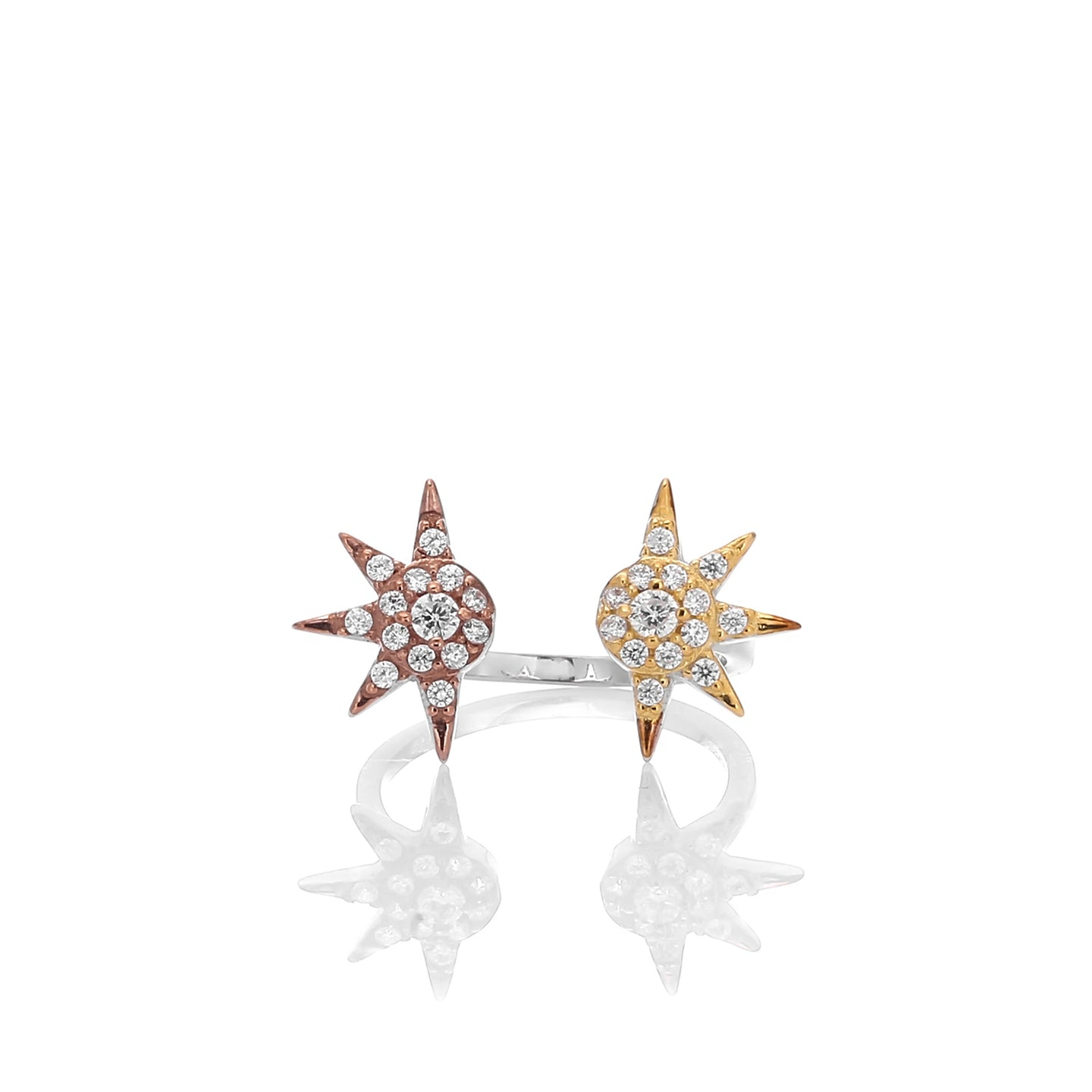 Star Shaped Adjustable Ring - ARJWR1030RD