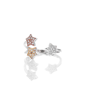 Superstar Sterling Silver Adjustable Ring - ARJWR1031RD