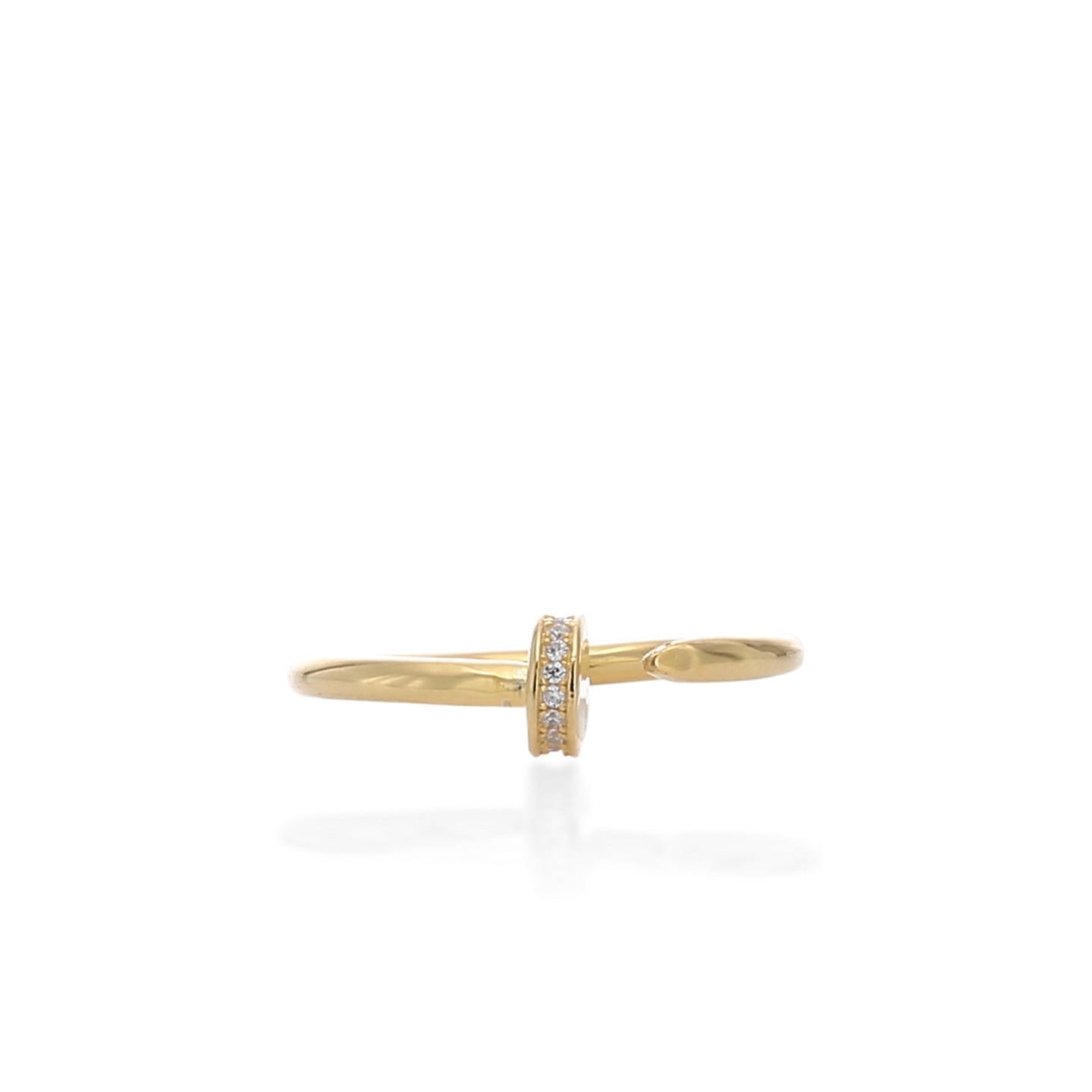 Fashionable Gap Midi Adjustable Ring - ARJWR1043GD - ARCADIO LIFESTYLE