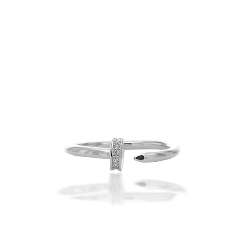 Fashionable Gap Midi Adjustable Ring - ARJWR1043RD - ARCADIO LIFESTYLE