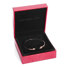 Hoops & Loops High Polished Arrow Wrap Cuff Bangle Bracelet - ARJWDB1059RG - ARCADIO LIFESTYLE