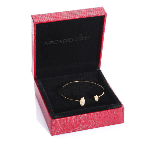 Open Double Cuff Bangle Bracelet - ARJWDB1060GD - ARCADIO LIFESTYLE