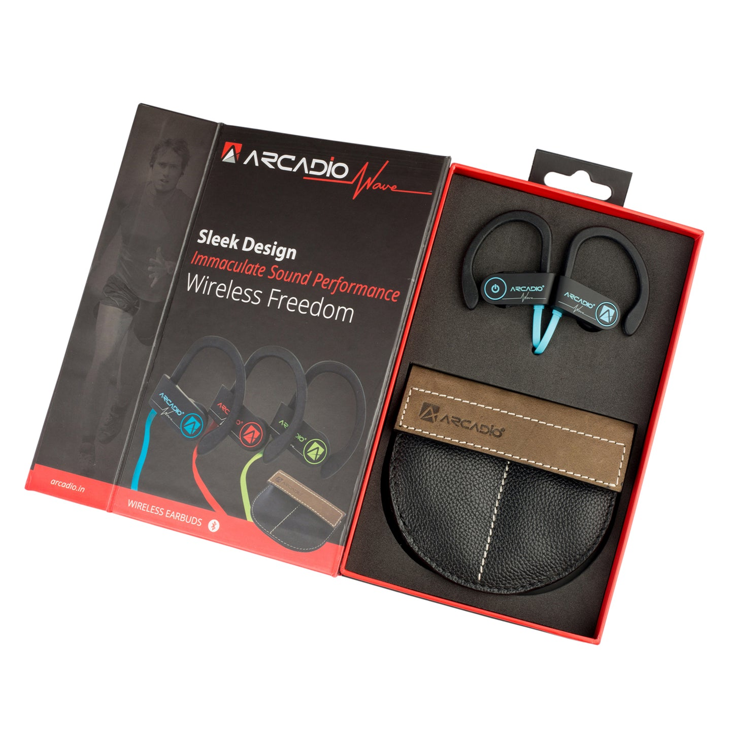 ARCADIO WAVE - Wireless Ear Plug with Mic - Blue