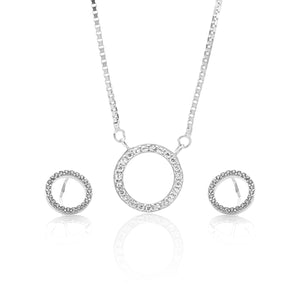 Circle of Life Pendant Necklace and Earrings Set - ARJW1021RD