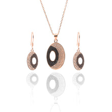 Juno Pendant Necklace and Earrings Set - ARJW1018RG - ARCADIO LIFESTYLE