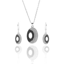 Juno Pendant Necklace and Earrings Set - ARJW1018RD