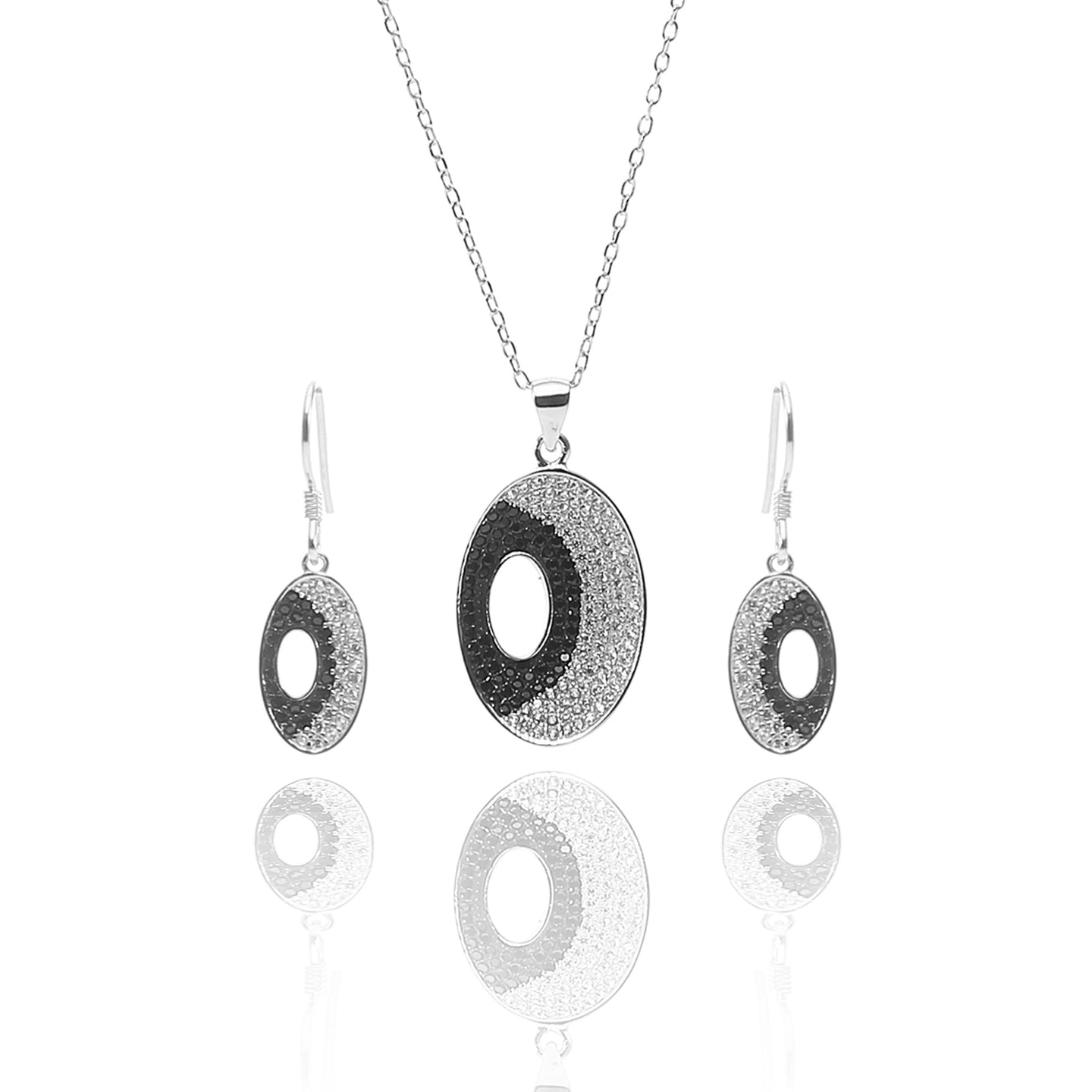Juno Pendant Necklace and Earrings Set - ARJW1018RD - ARCADIO LIFESTYLE