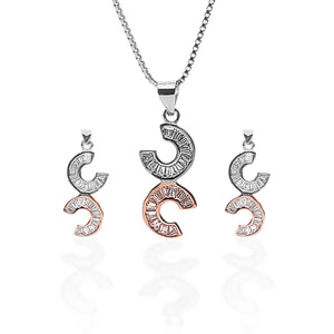 Celena Pendant Necklace and Earrings Set - ARJW1011RD