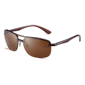 Polarized Rectangle Double Bridged unisex Sunglasses - TR161