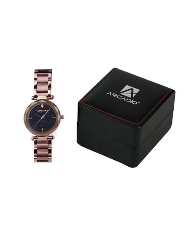 ARCADIO StarGaze Bracelet Watch - Captivating Coffee - ARSG1001CO - ARCADIO LIFESTYLE