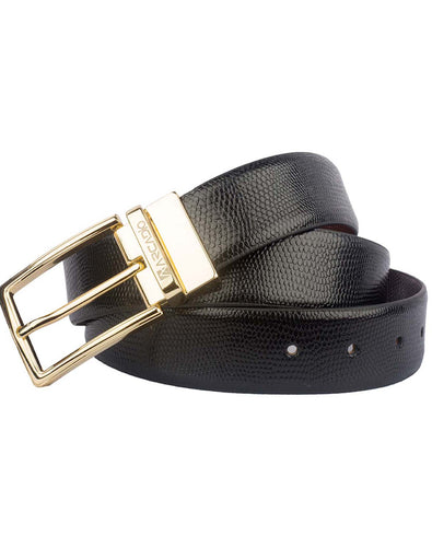 PRETTY TOUGH - Lizard Pattern Leather Belt - ARB1001RV - ARCADIO LIFESTYLE