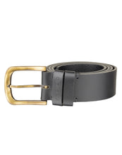 VINTAGE MANIA - Antique Look Leather Belt - ARB1016BK - ARCADIO LIFESTYLE