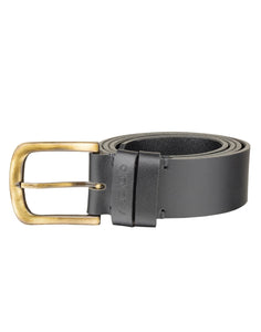 VINTAGE MANIA - Antique Look Leather Belt - ARB1016BK