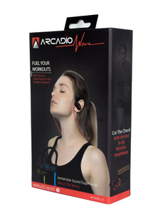 ARCADIO WAVE - Wireless Ear Plug with Mic - Red