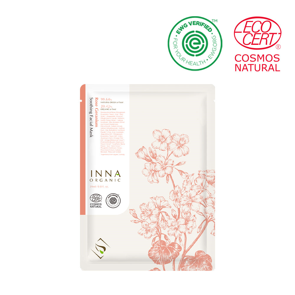 Rose Geranium Soothing Facial Mask - Peau Peau Beauty