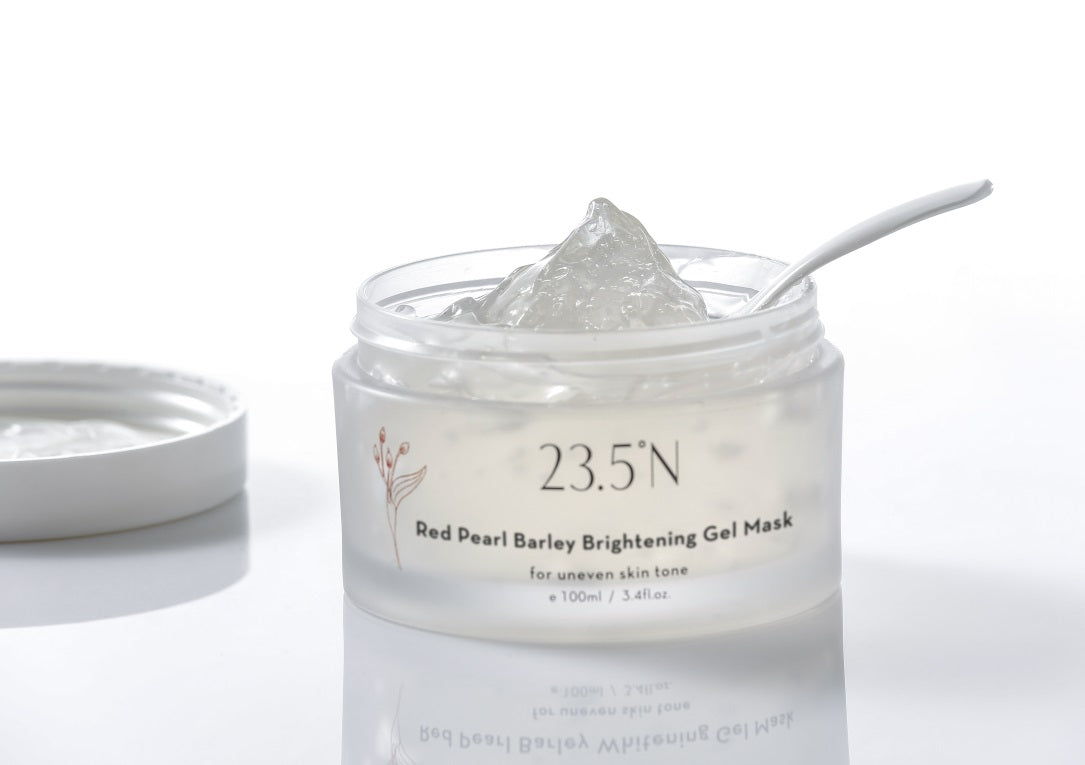 Red Pearl Barley Whitening Gel Mask side